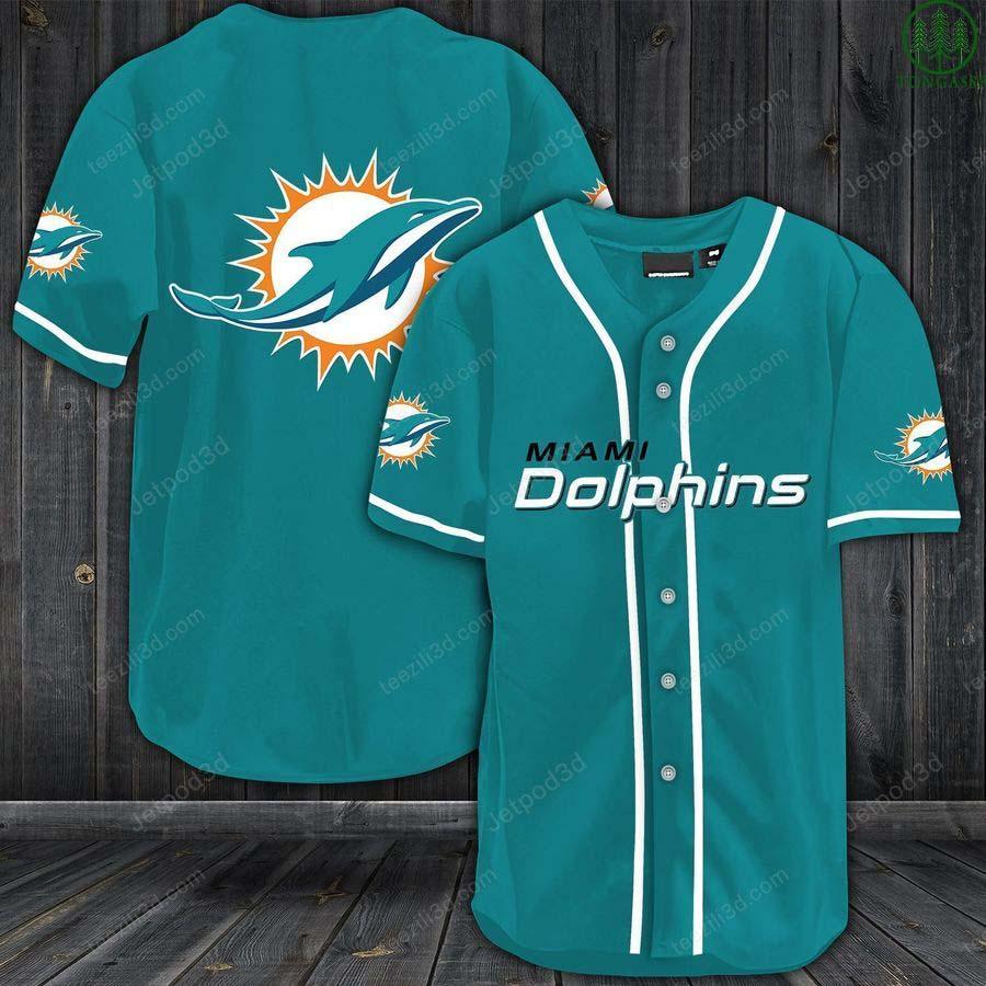 Miami Dolphins Baseball Jersey Shirt