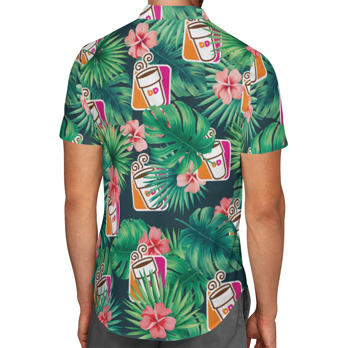 Michael Myers Jason Voorhees Dunkin Donuts Hawaiian Shirt 3