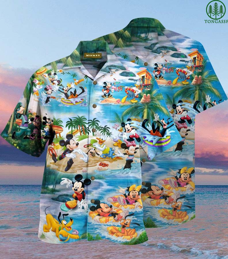 Mickey Daisy Pluto Disney Picnic Hawaiian Shirt