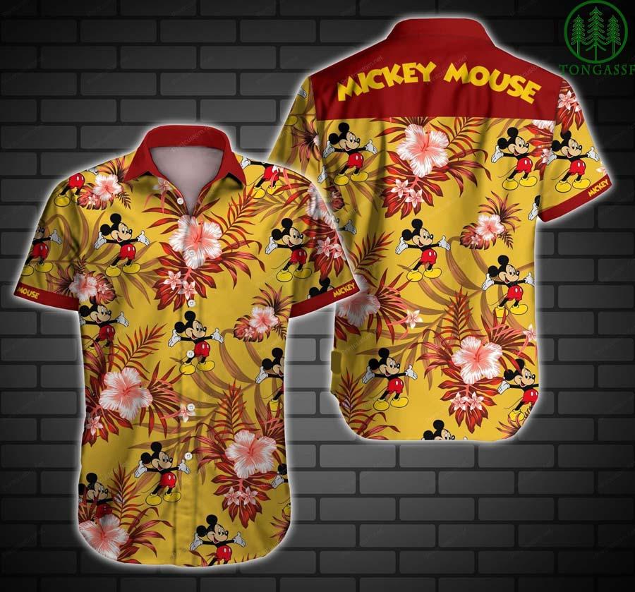 Mickey Mouse Floral Hawaiian Shirt
