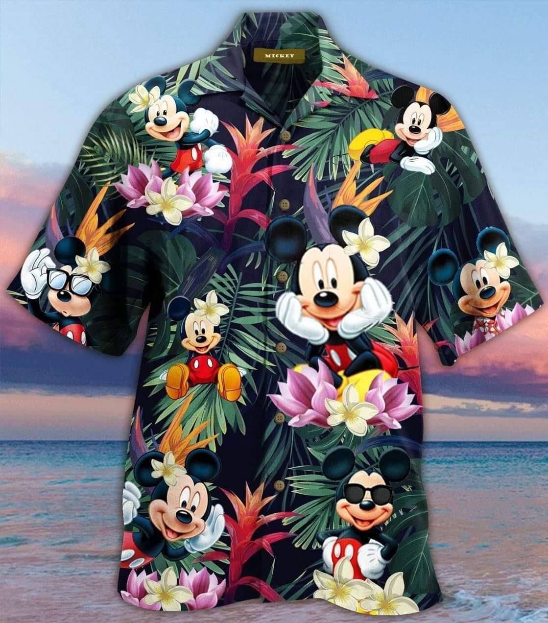 Mickey Mouse Hawaiian Shirt Summer Shirt