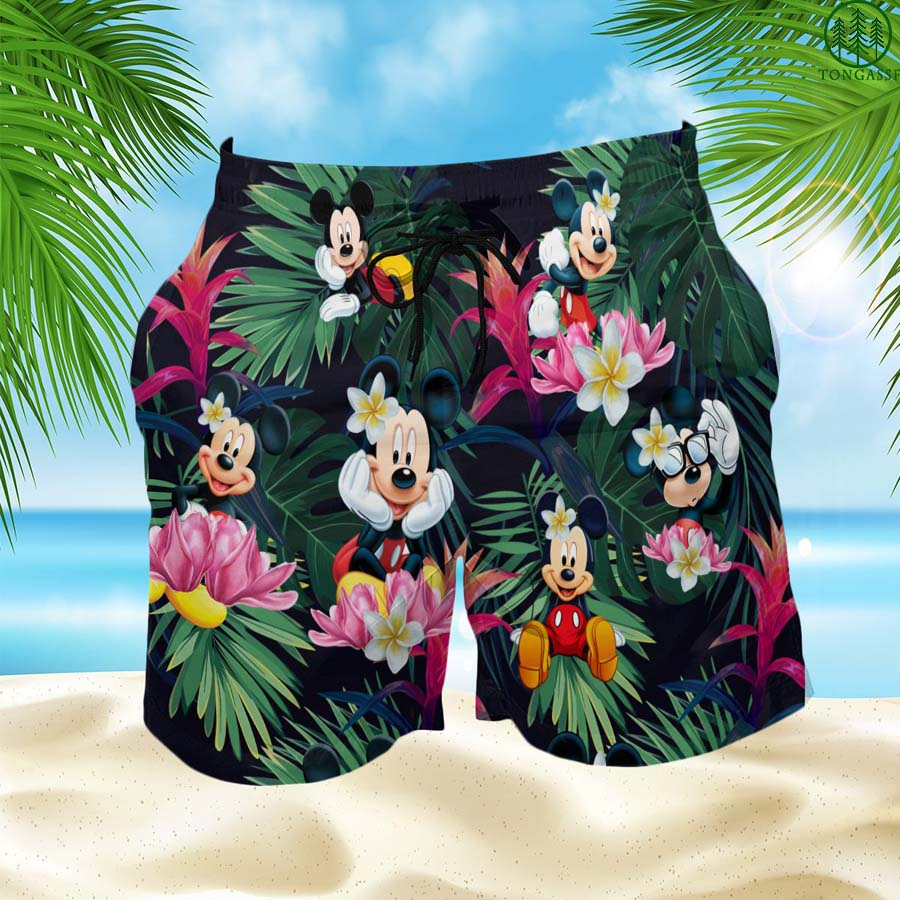 Mickey Mouse Hawaiian Shorts Summer