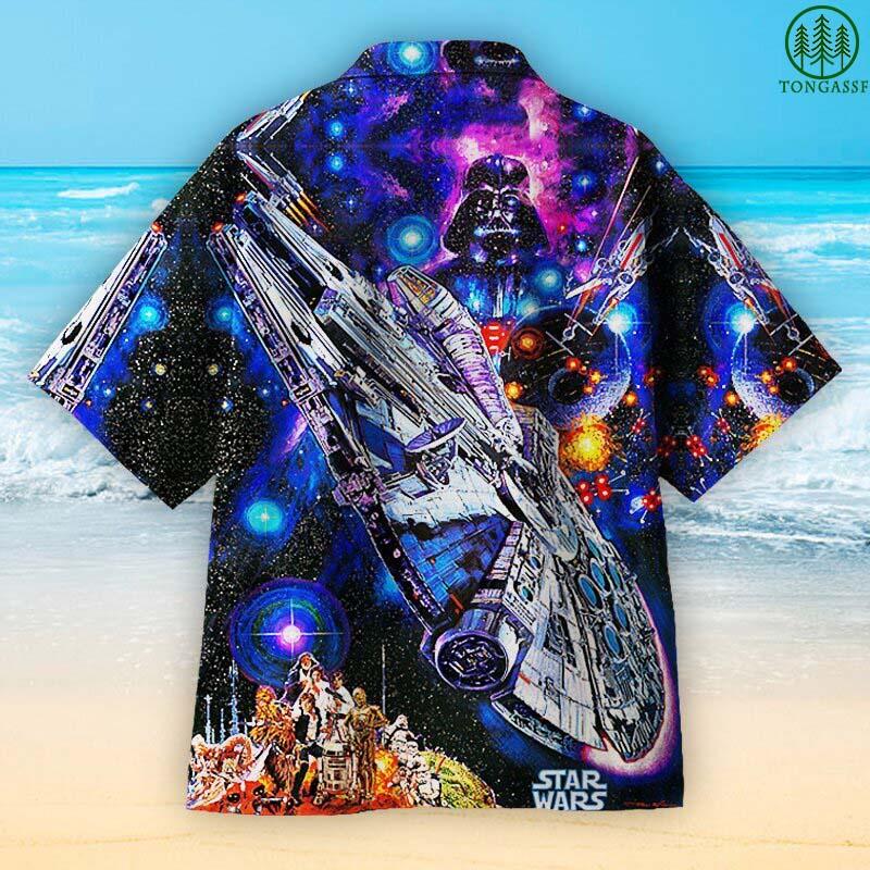 Millennium Falcon starship Darth Vader StarWar Hawaiian Shirt