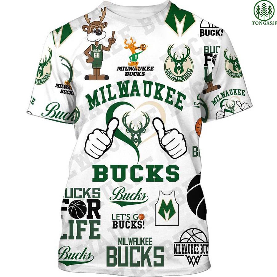 Milwaukee Bucks basketball 3D Shirt