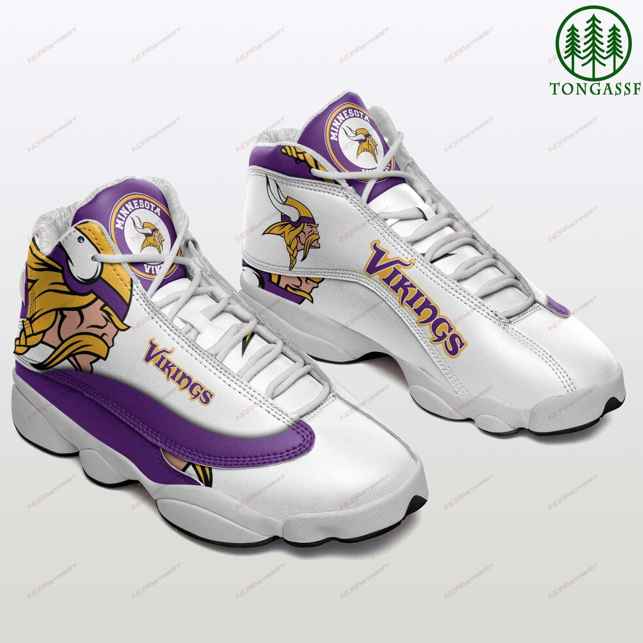 Minnesota Vikings Air Jordan 13 Sneakers Sport Shoes