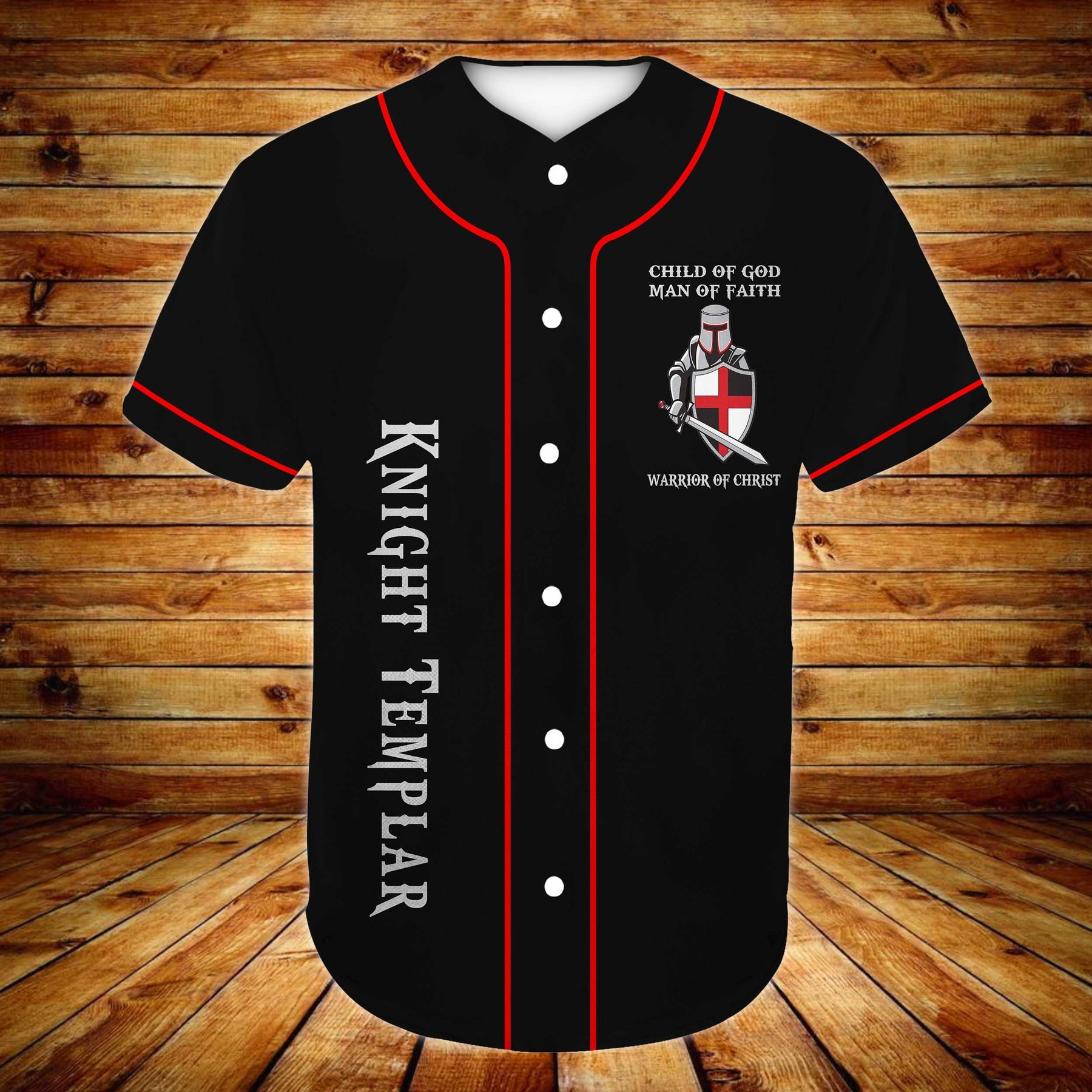 Knight Templar The Devil Saw Me With My Head Down Baseball Jersey Shirt
