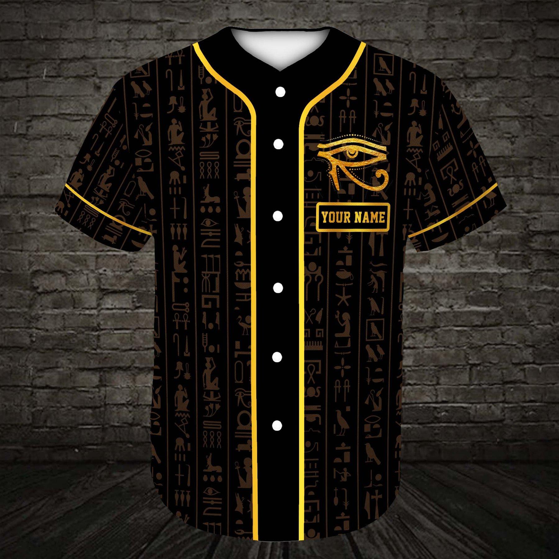 Custom name Egyptian Mythology Shirt Baseball Jersey Shirt