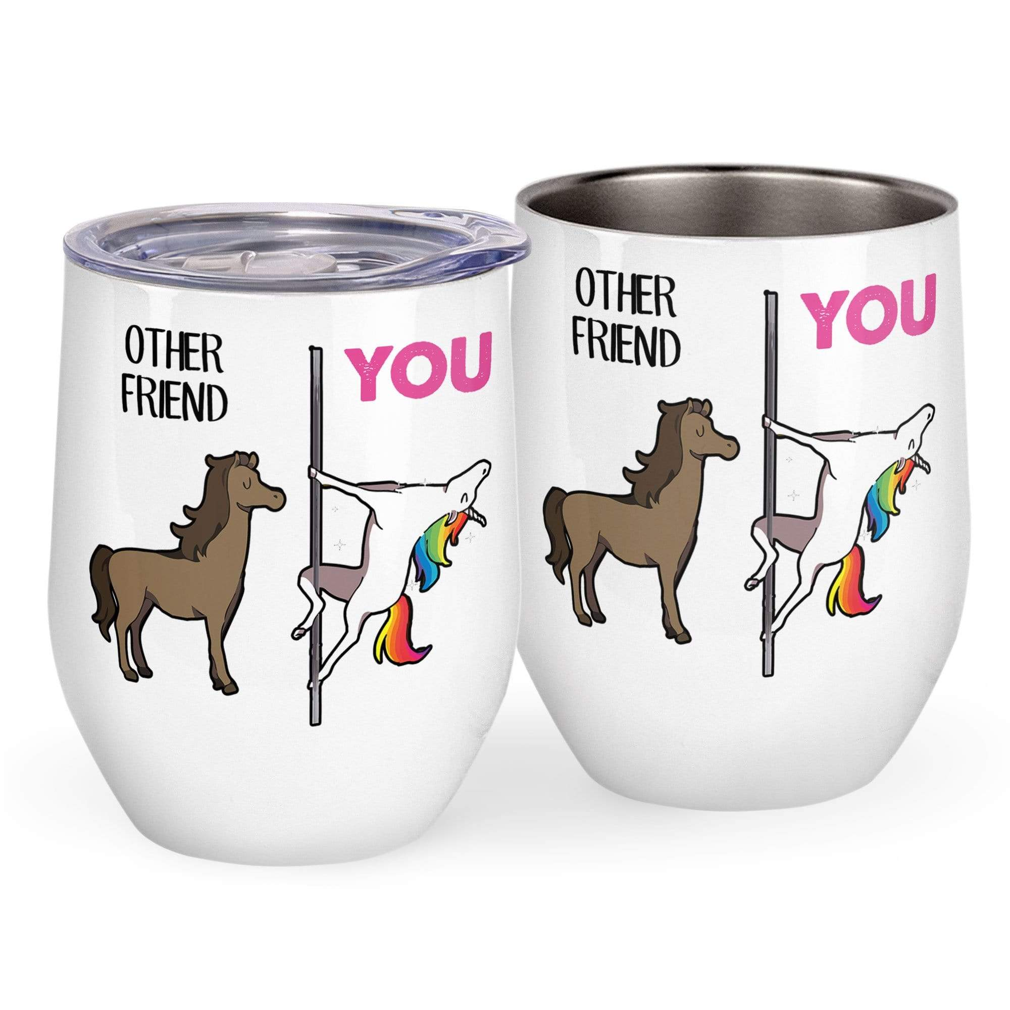 Custom Name Other Friend And You Wine Tumbler