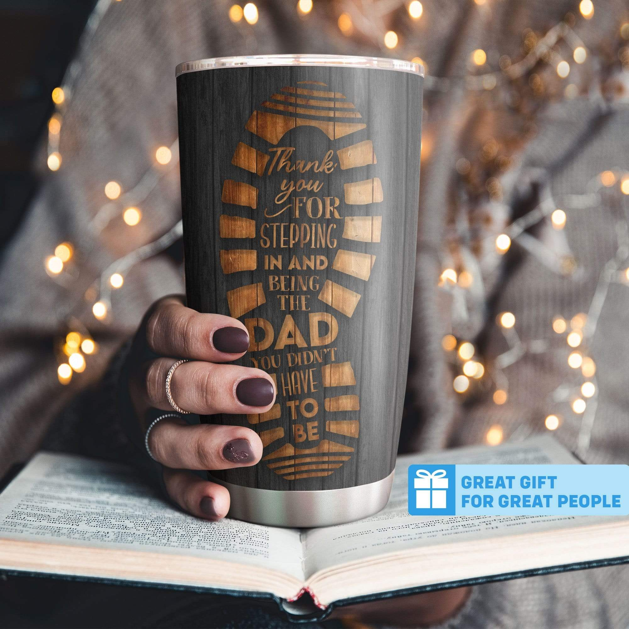 Personalized Thank You For Step Dad Bonus Dad Tumbler Cup