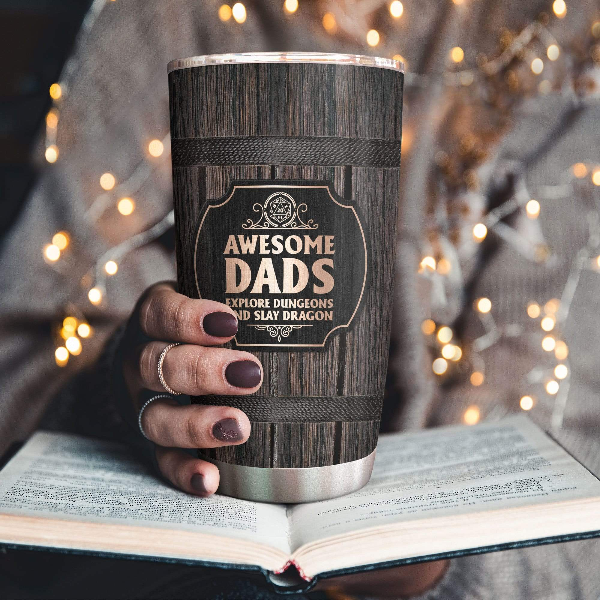 Personalized Awesome Dads Explore Dungeons And Slay Dragon Tumbler Cup
