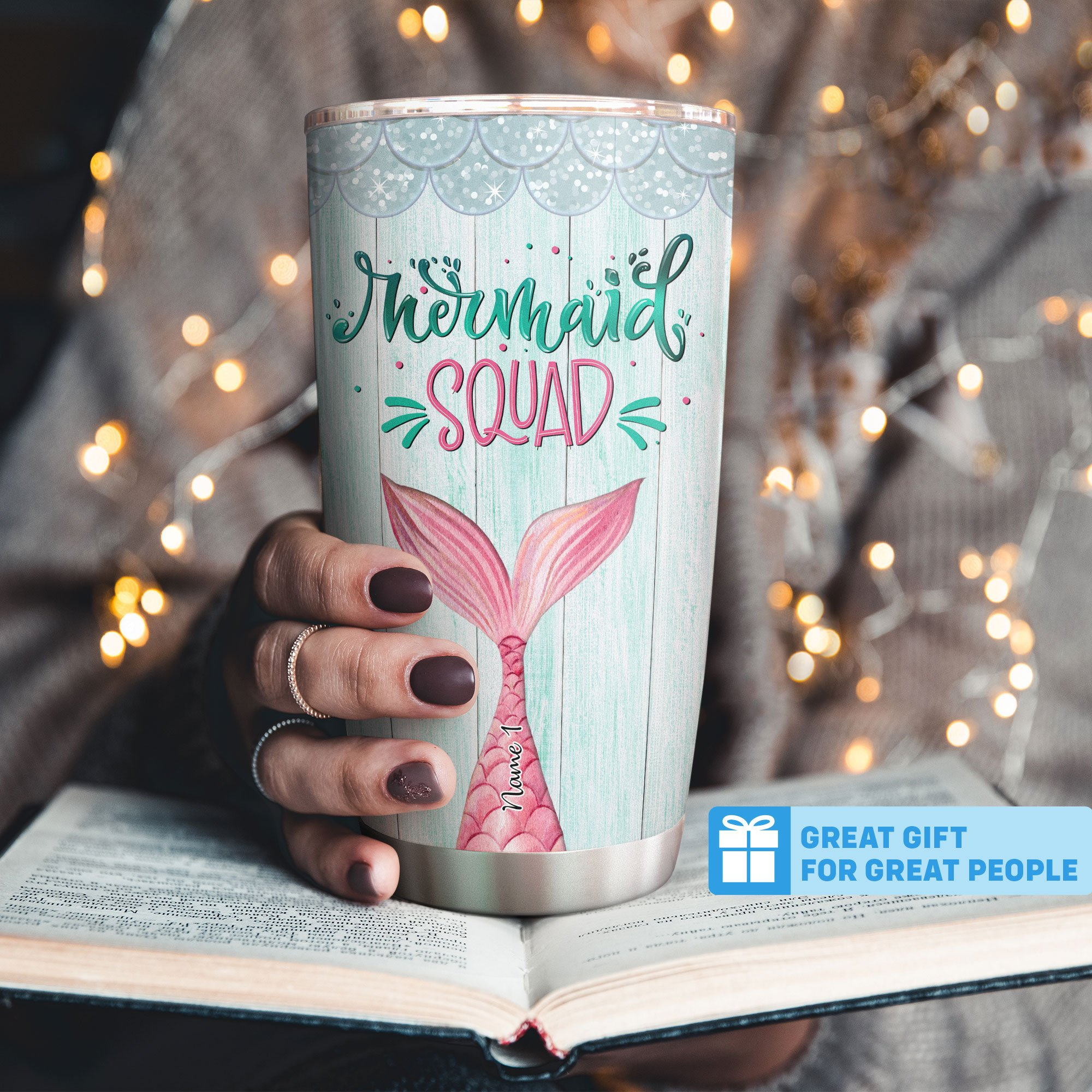 Personalized Mermaid Squad Not Sisters By Blood But Sisters By Heart Besties Tumbler