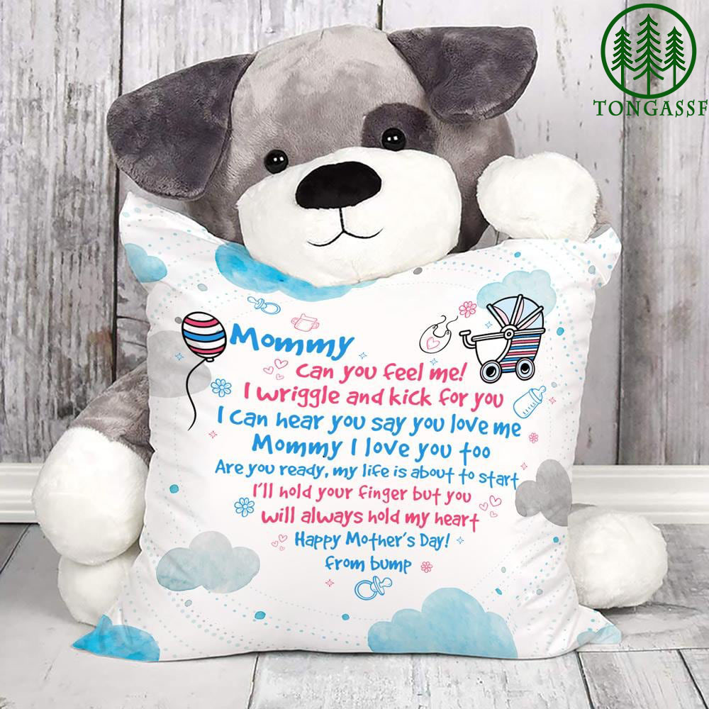 Mommy can you feel me pillow case