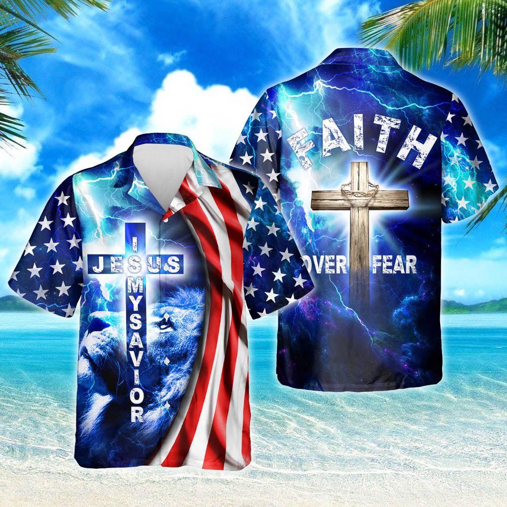 My God Jesus Is My Savior Hawaiian Shirt