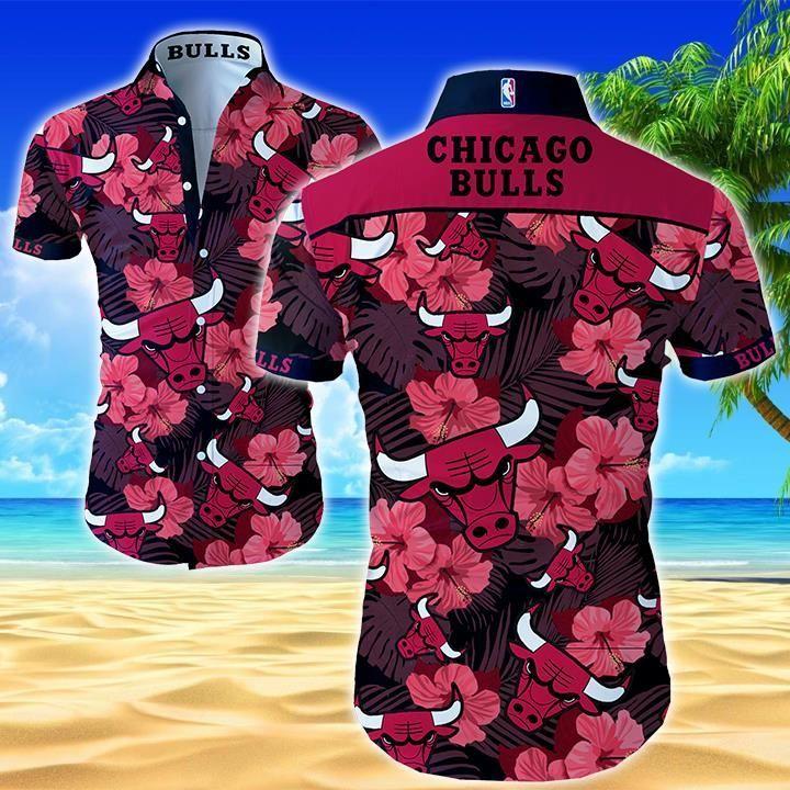 NBA Chicago Bulls Floral Hawaiian Shirt Summer Shirt