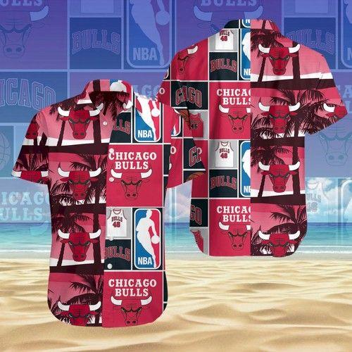 NBA Chicago Bulls Tropical Hawaiian Shirt
