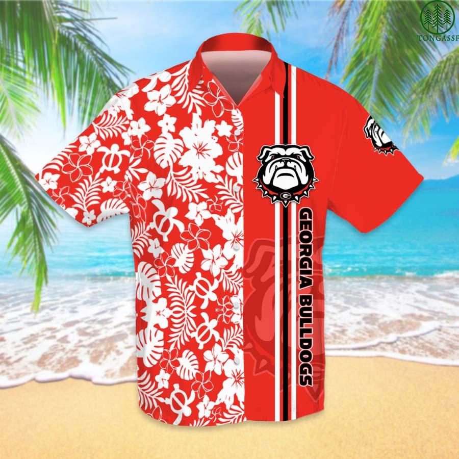 NCAAF Football Georgia Bulldogs Hawaiian Shirt