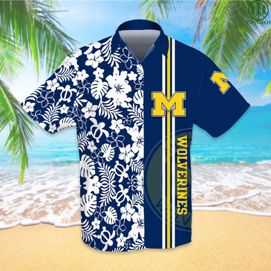 NCAAF Football Michigan Wolverines Hawaiian Shirt