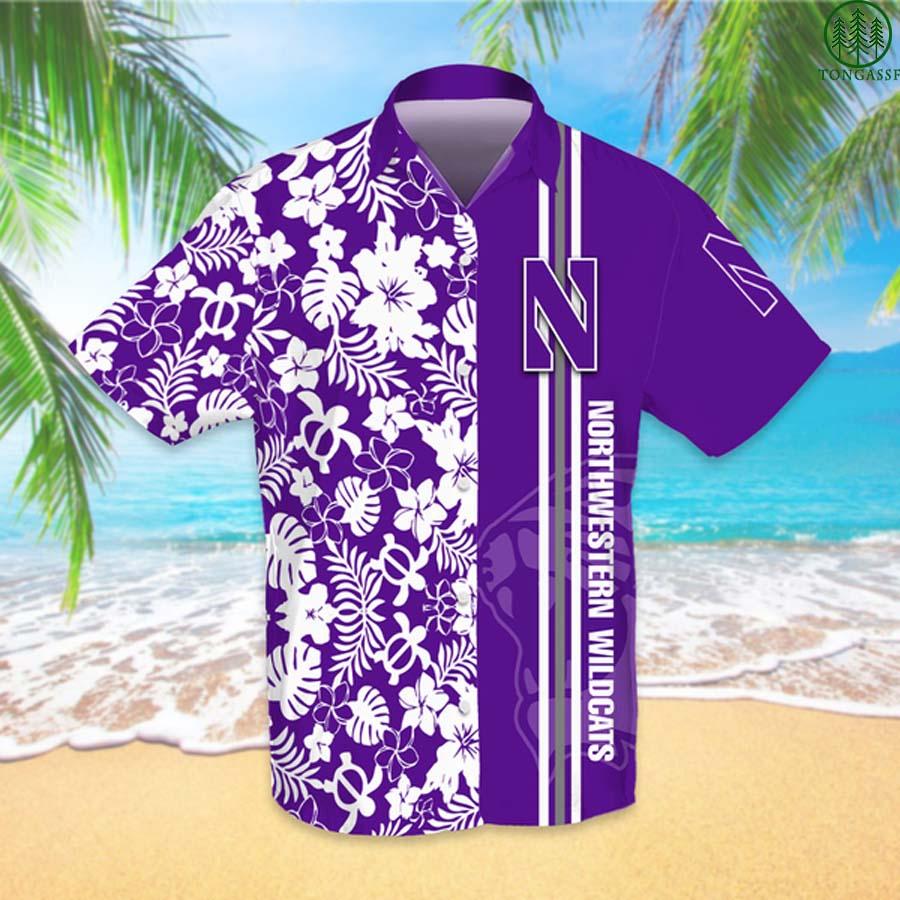 NCAAF Football Northwestern Wildcats Hawaiian Shirt