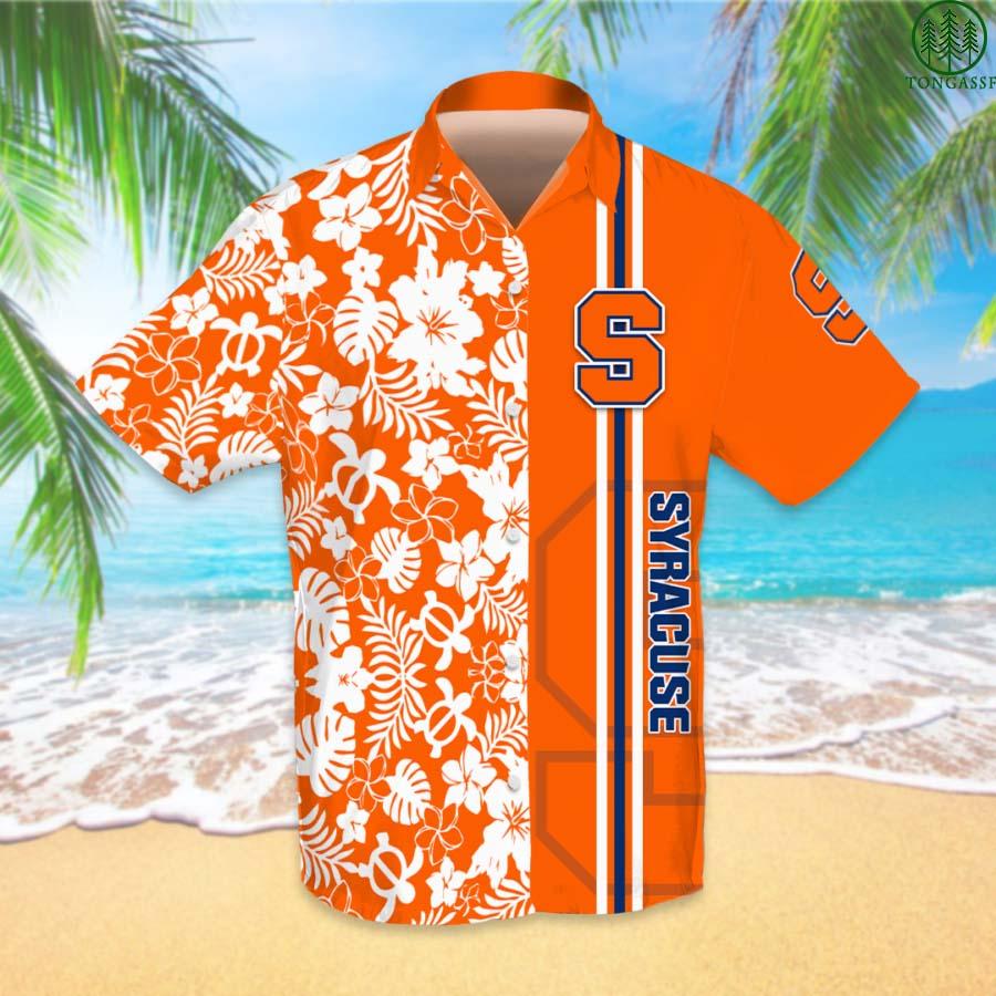 NCAAF Football Syracuse Orange Hawaiian Shirt