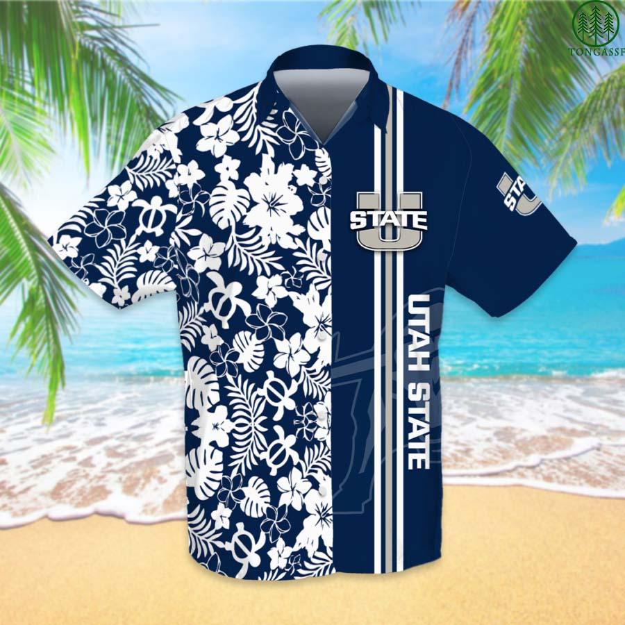 NCAAF Football Utah State Aggies Hawaiian Shirt