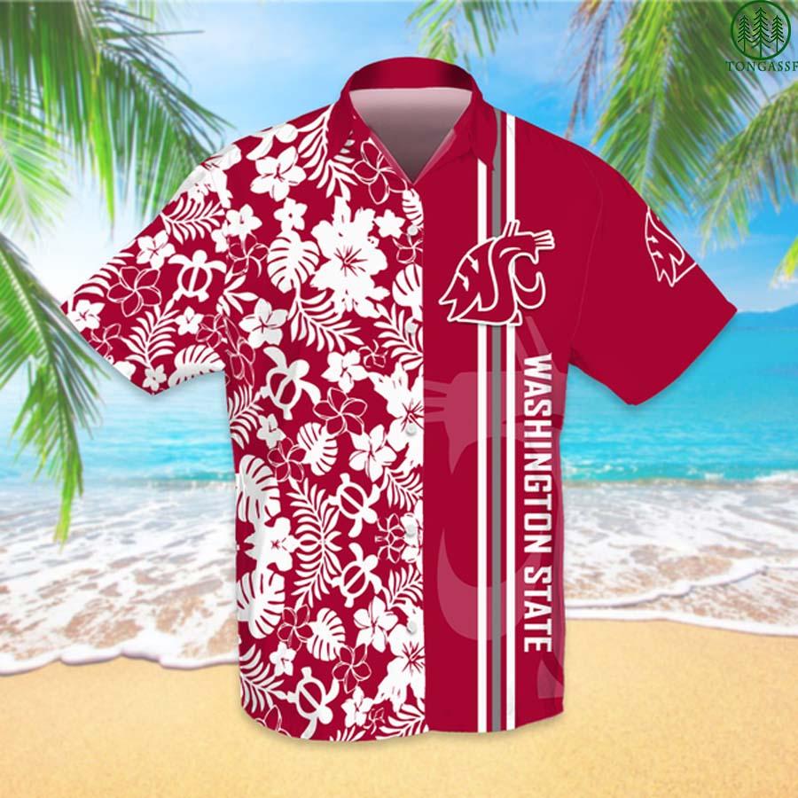 NCAAF Football Washington State Cougars Hawaiian Shirt