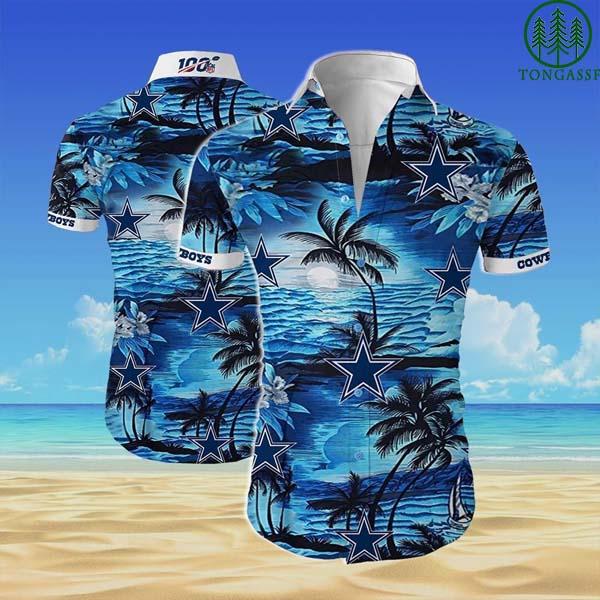 NFL 100 Dallas cowboys team Hawaii Shirt beach shirt