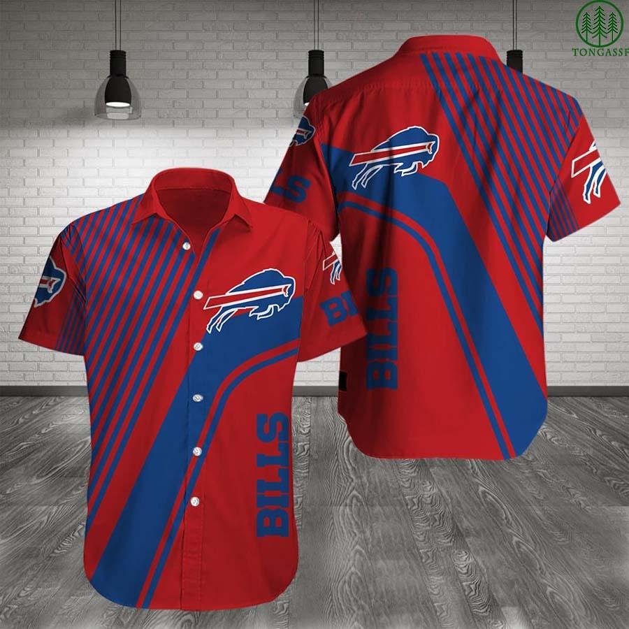 NFL Buffalo Bills Hawaiian Shirt Summer Shirt Red ver