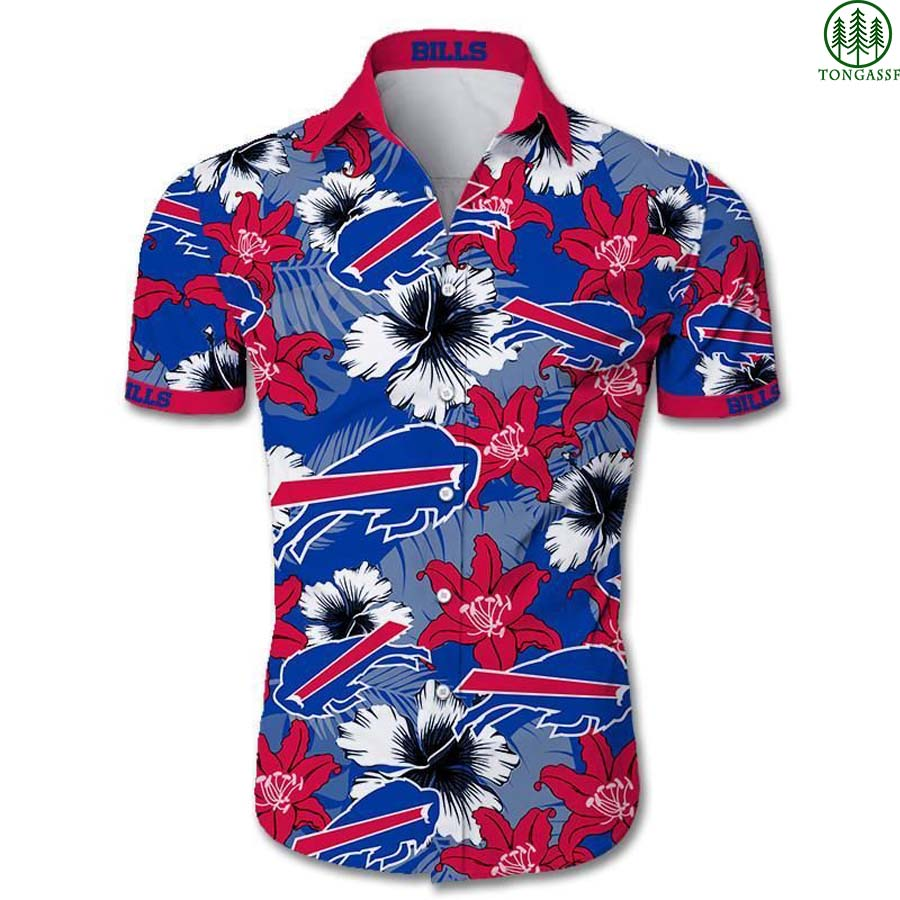 NFL Buffalo Bills Hawaiian Shirt Tropical Flower