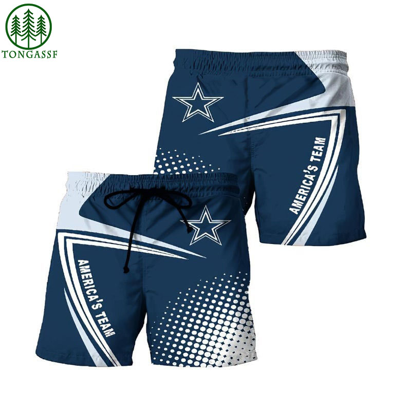 NFL Dallas Cowboys Hawaiian Shorts Beach Short
