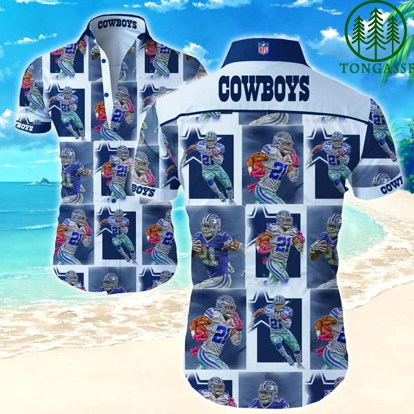NFL Dallas Cowboys Number 21 legend Hawaiian Shirts