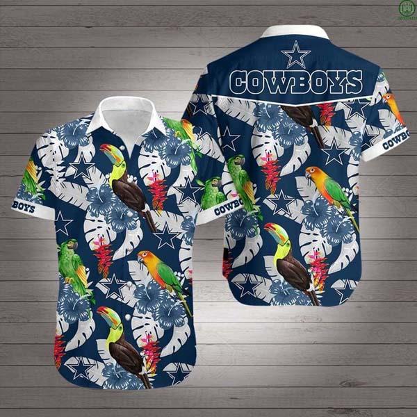 NFL Dallas Cowboys Parrots and Toucans Hawaiian Shirt