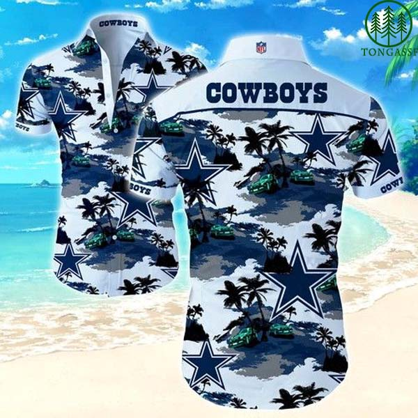 NFL Dallas Cowboys beach island Hawaiian Shirt