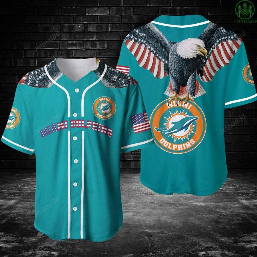 NFL Miami Dolphin American Eagle baseball Jersey shirt