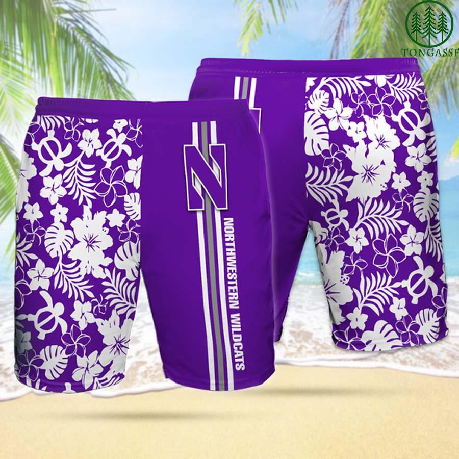 NW NORTHWESTERN WILDCATS Hawaiian Shorts