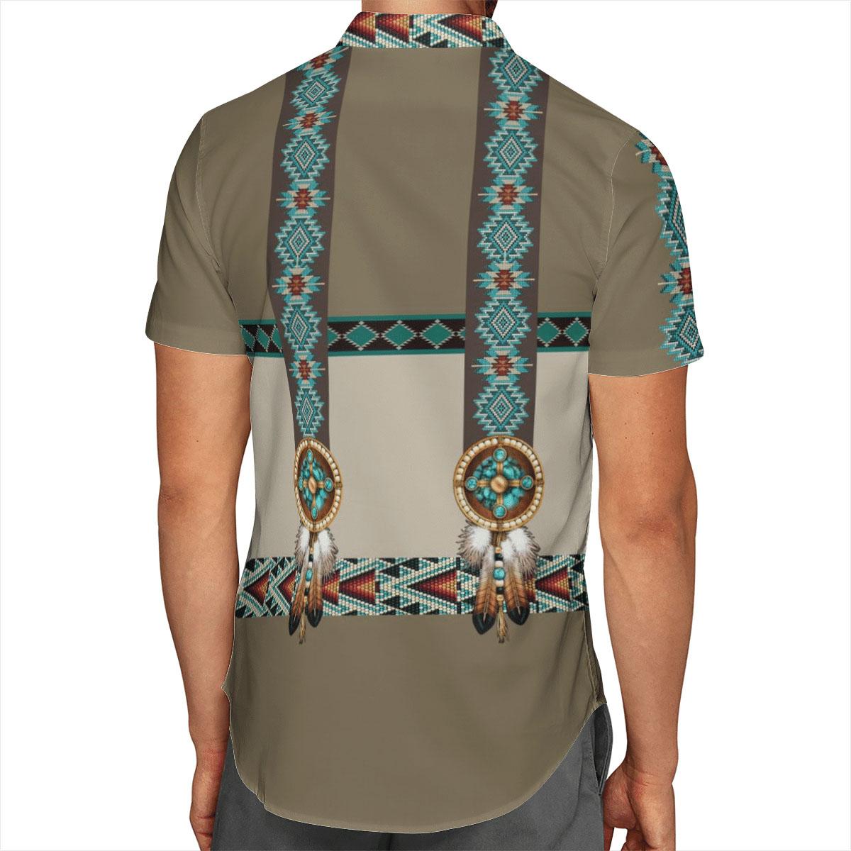 Native American Wolf Hawaii Shirt