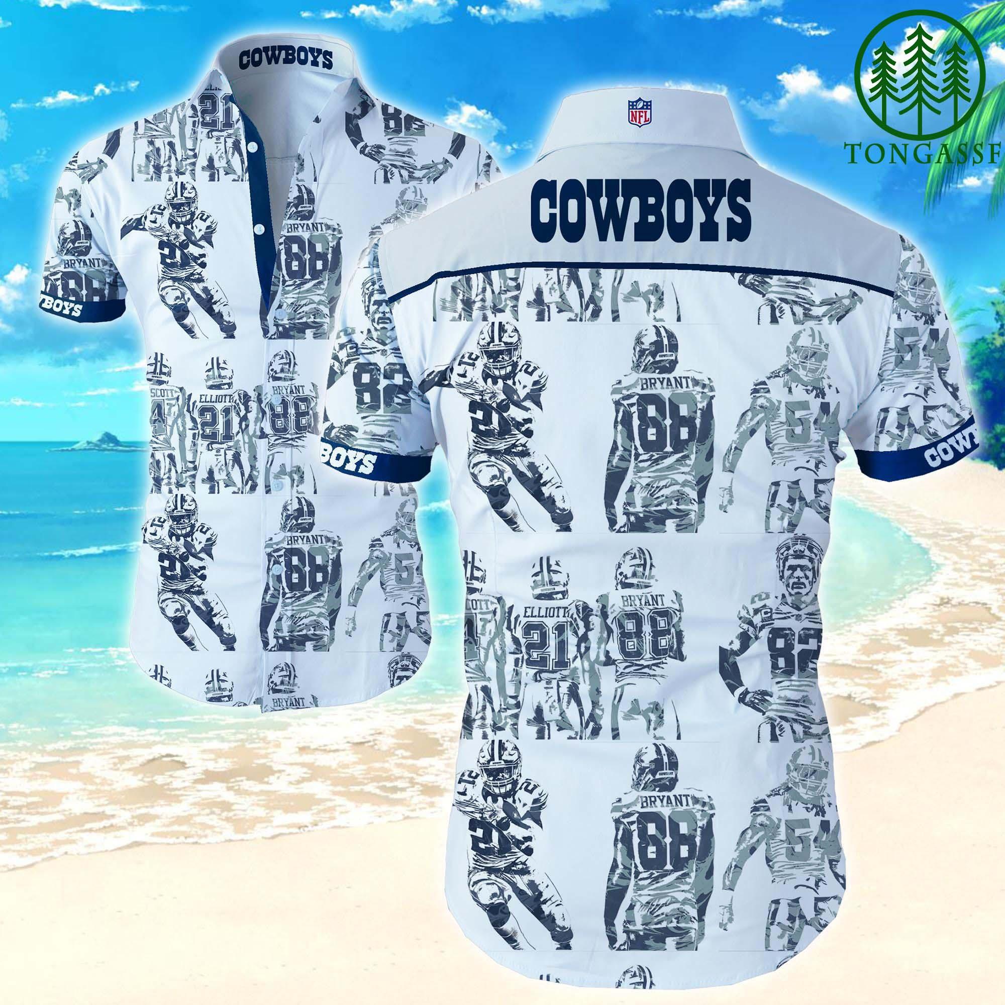 Nfl Dallas Cowboys Bryant 88 Hawaiian Shirt