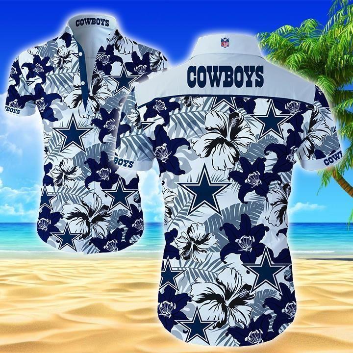 Nfl Dallas Cowboys Floral Hawaiian Shirt