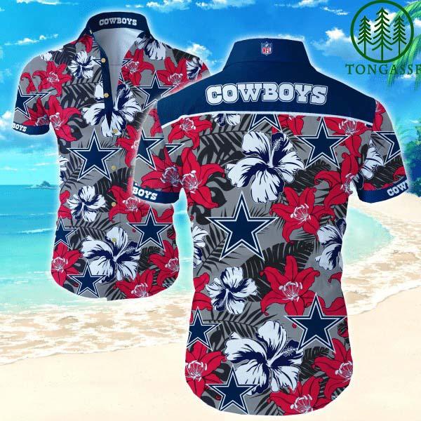 Nfl Dallas Cowboys Tropical Flower Hawaiian Shirt