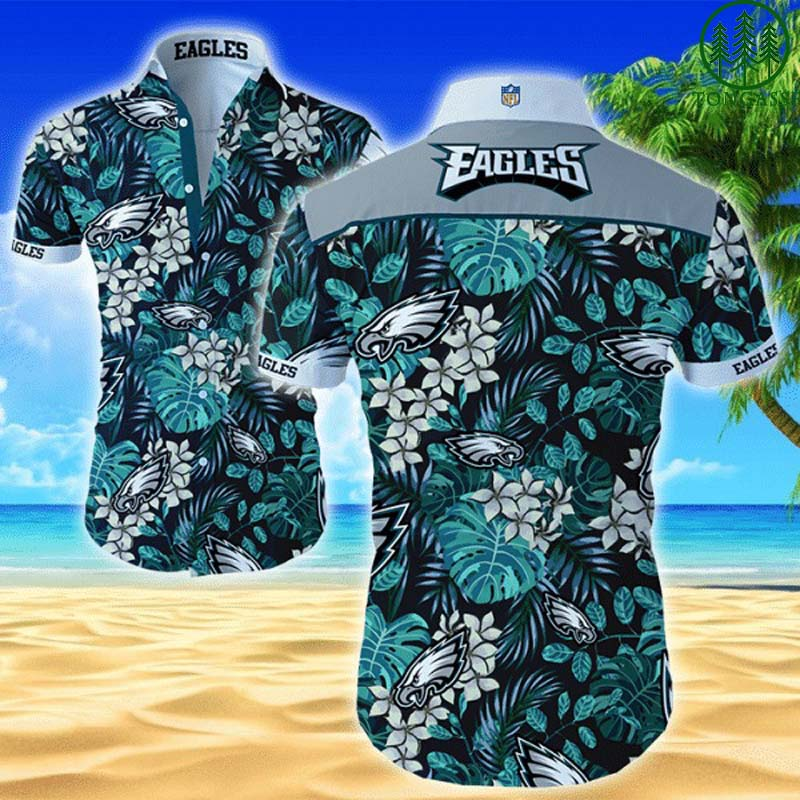 Nfl Philadelphia Eagles Forest style Hawaiian Shirt