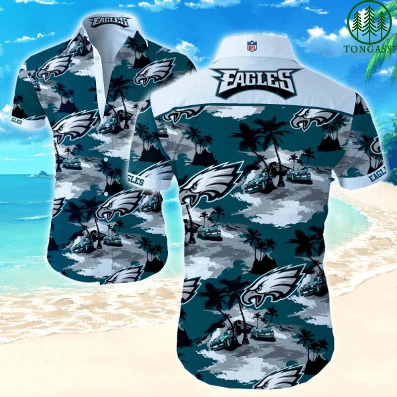 Nfl Philadelphia Eagles Island Beach Hawaiian Shirt Summer Shirt