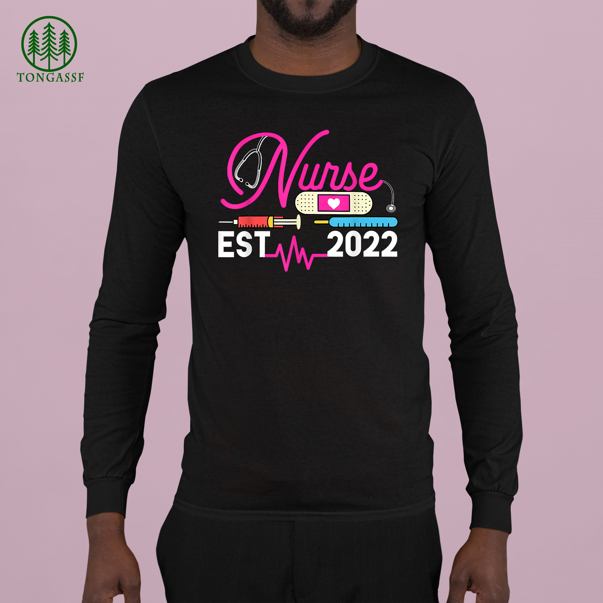 Nurse Student Nursing Practioner Graduation Est 2022 Gift Longsleeve Shirt