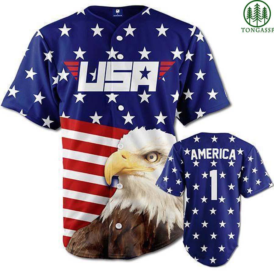 EAGLE American 1st baseball jersey Shirt