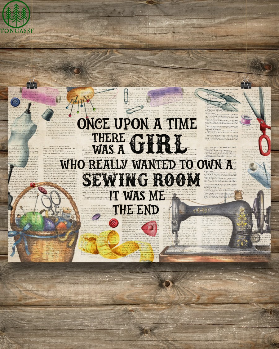 Once Girl Own A Sewing Room on paper Poster