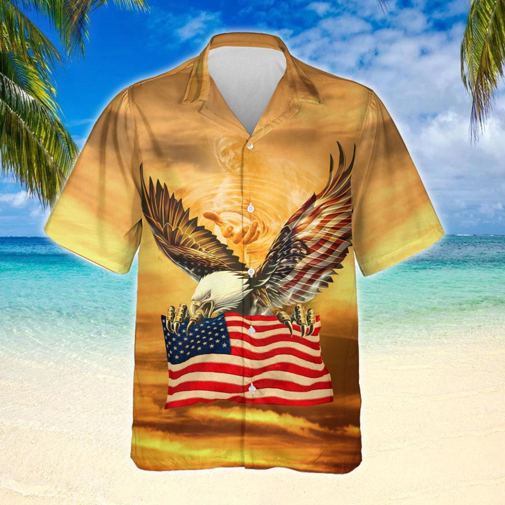 One Nation Under God United States Hawaiian Shirt 2