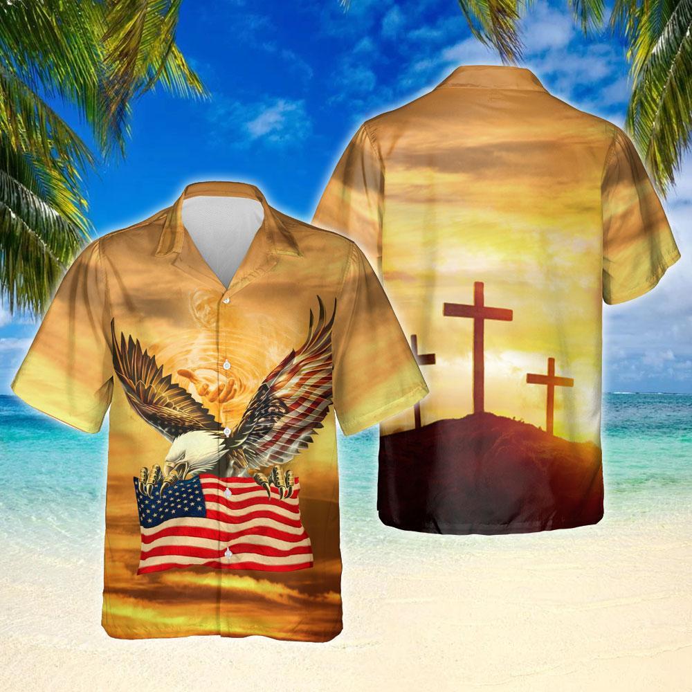One Nation Under God United States Hawaiian Shirt