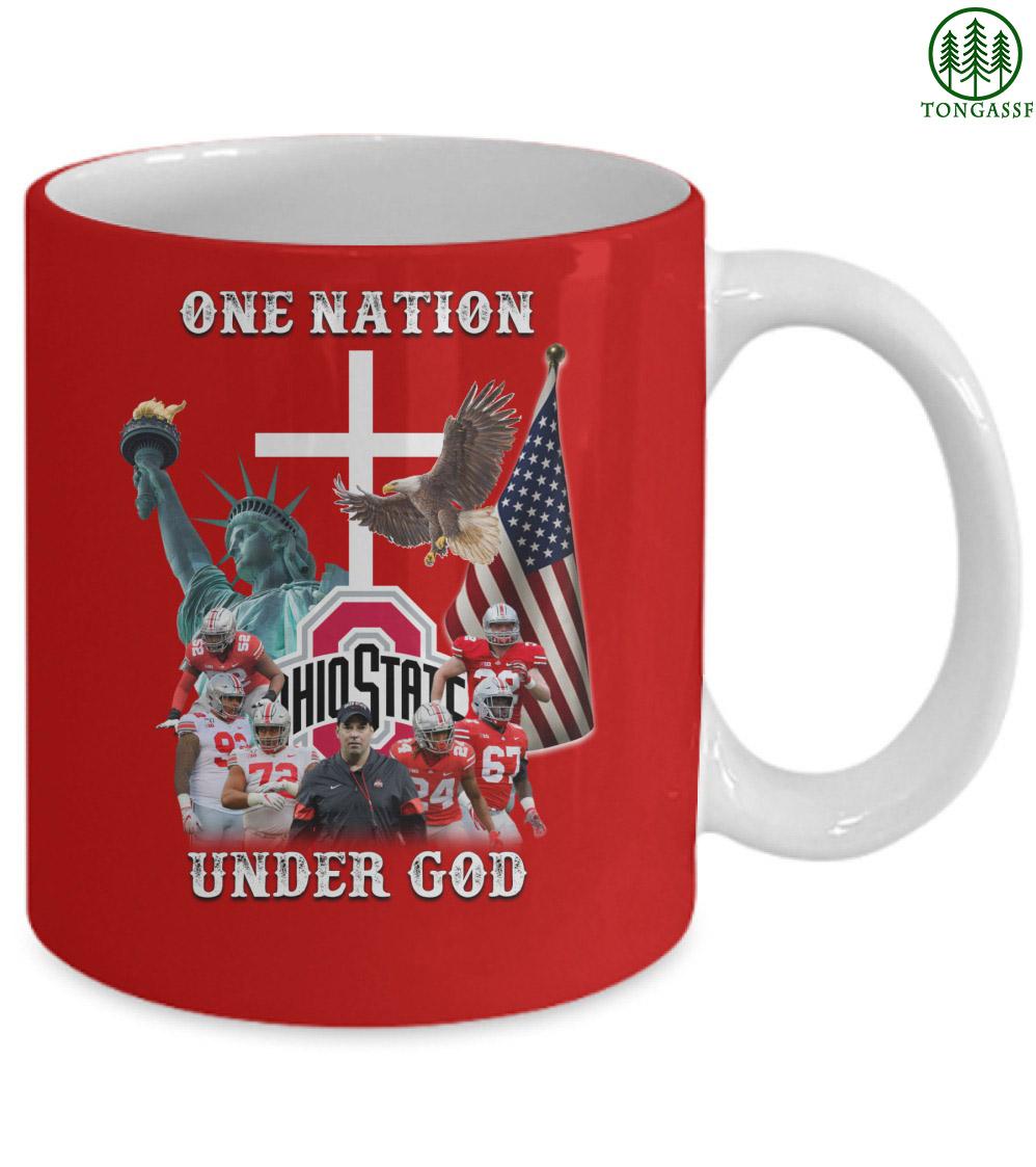 One nation under god Ohio Buckeyes state baseball mug