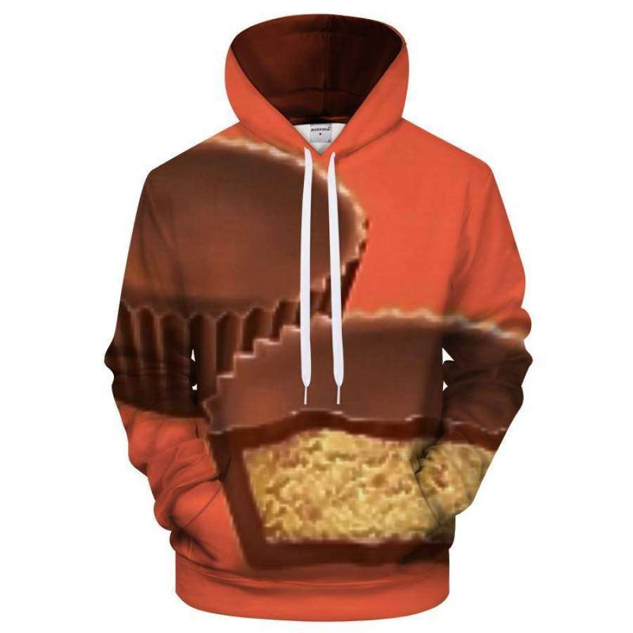 Orange Peanut Butter Cup Chocolate 3D Hoodie LIMITED EDITION