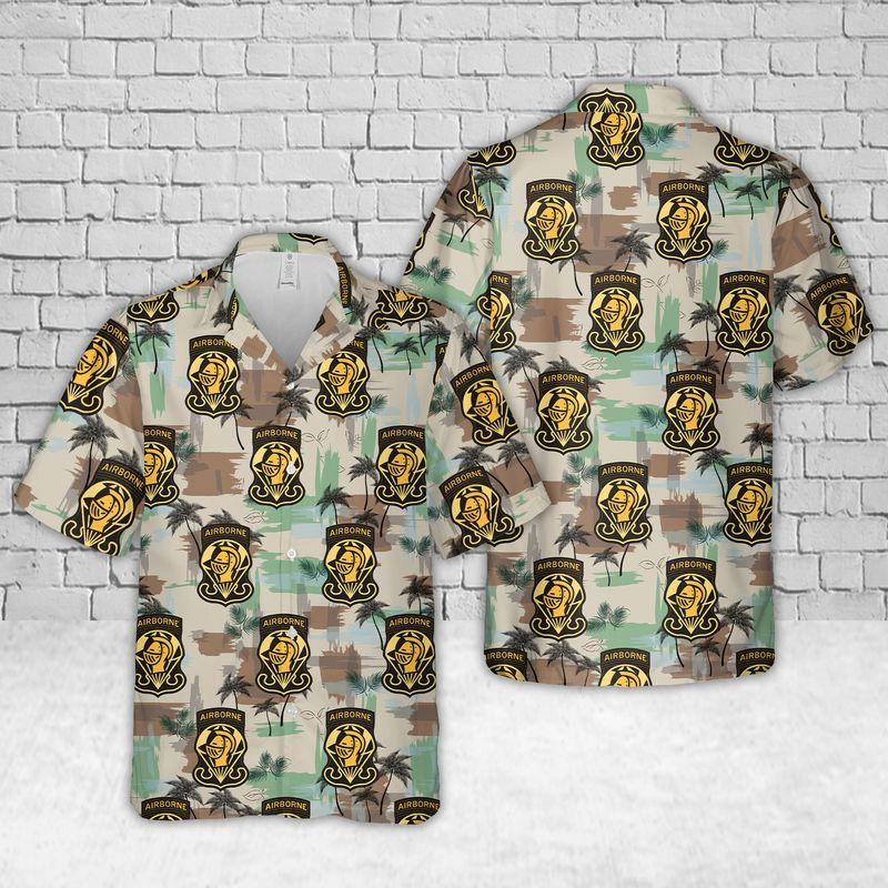 US Army Golden Knights Air Show Hawaiian Shirt and short
