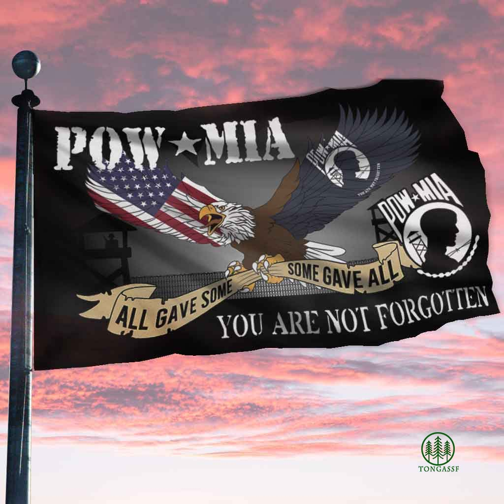 POW MIA All Gave Some Some Gave All Flag