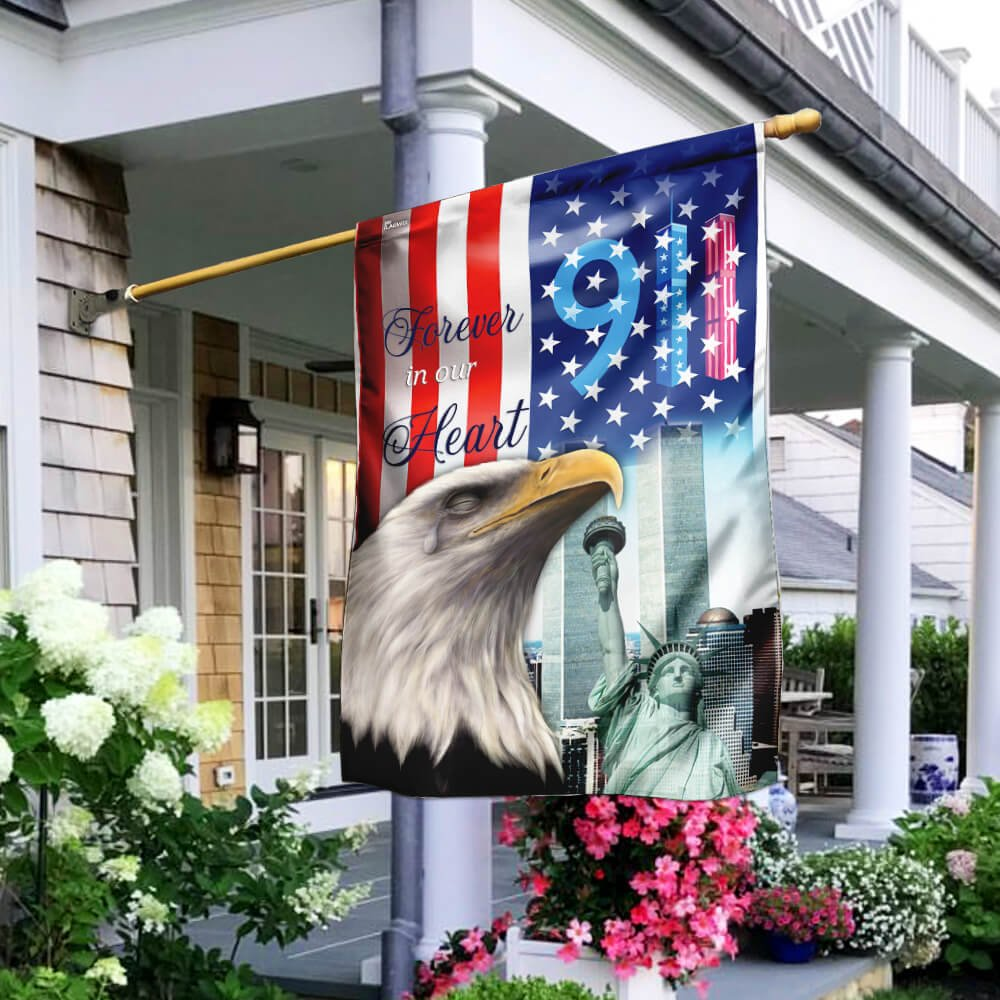 American Eagle Forever In Our Heart 911 Flag